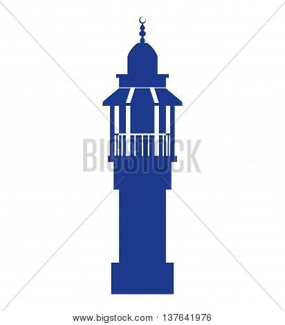 Israel culture concept represented by temple icon. Isolated and flat illustration