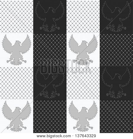 vintage Royal vector seamless texture with eagle pattern