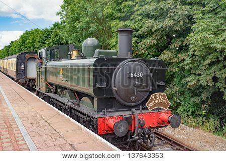 Cholsey/UK. 3rd July 2016. A heritage service is about to depart to Wallingford.
