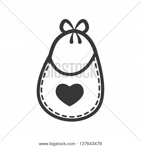 Baby concept represented by bib icon. Isolated and flat illustration