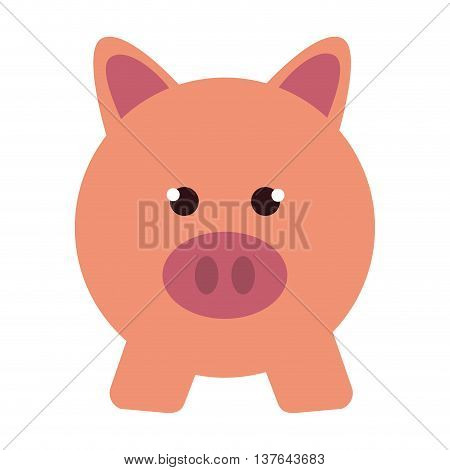 piggy bank pig money save , isolated vector illustration