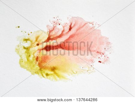 Beautiful abstract watercolor element for your design