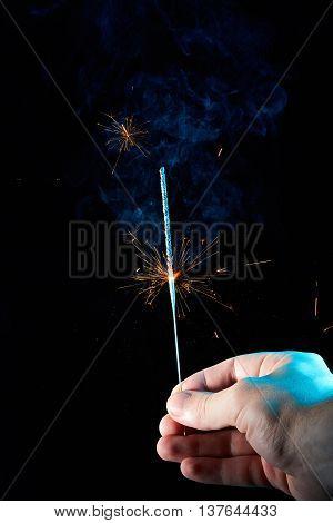 Gold Burning Sparkles