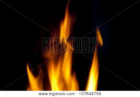 Blurred flames of fire in the dark (as an abstract background)