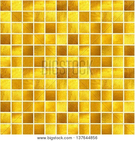 Seamless pattern with hand painted golden squares.