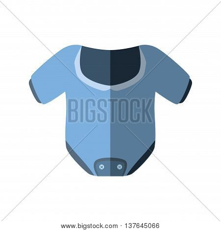 Baby concept represented by cloth icon. Isolated and flat illustration