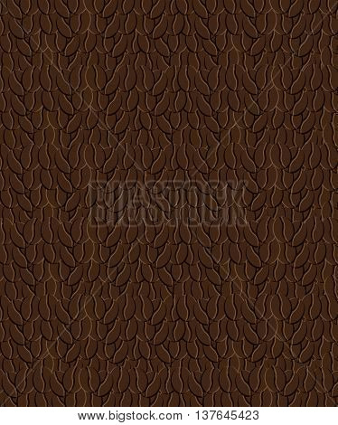 coffee bean background pattern , isolated vector illustration