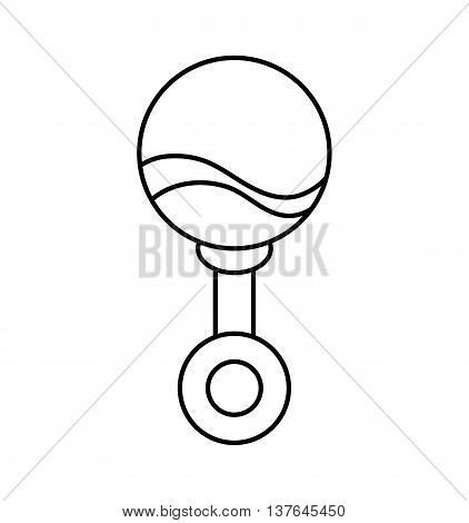 Baby concept represented by maraca icon. Isolated and flat illustration