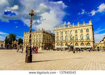 Place Stanislas, Historical city center of Nancy in Lorraine, France