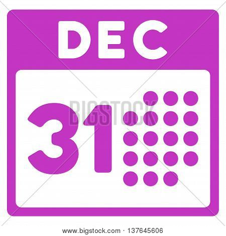Last Year Date vector icon. Style is flat symbol, violet color, rounded angles, white background.