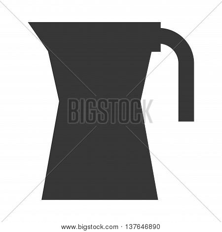 Pot for boiling water metallic icon , isolated vector illustration