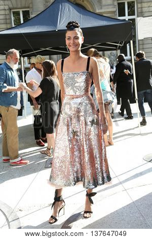 PARIS, FRANCE - JULY 06: Giovanna Battaglia attends the Valentino Haute Couture Fall/Winter 2016-2017 show as part of Paris Fashion Week. Outside arrivals.