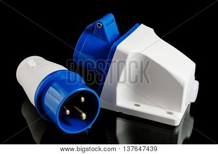 Electric Power Plug With Socket