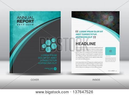 Blue and black Annual report template cover design brochure flyer booklet portfolio Leaflet presentation book catalogs newsletter butterfly magazine ads