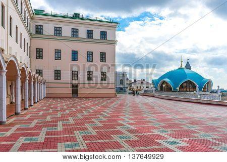 The area in the Kazan Kremlin near mosque Kul Sharif