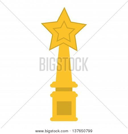 star trophy winner champion icon isolated vector illustration