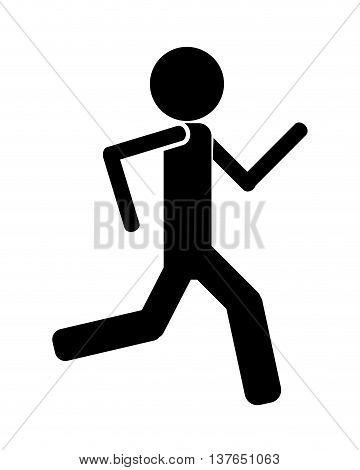 Person running icon avatar isolated vector illustration