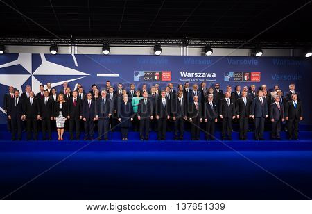 Group Photo Of Participants Of Nato Summit In Warsaw