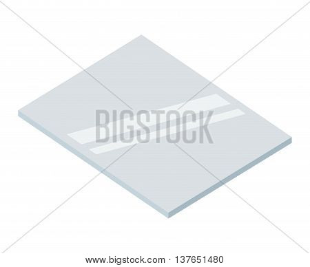 piece of glass isolated icon design, vector illustration  graphic