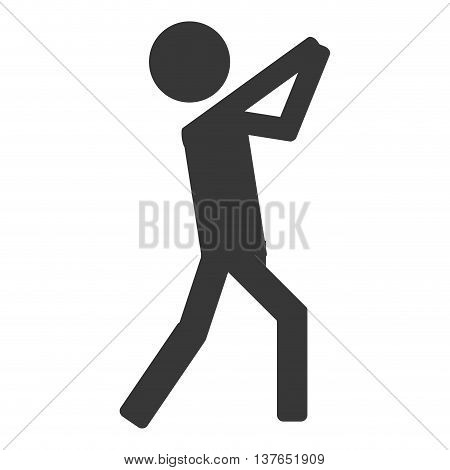 Throwing person icon sport isolated vector illustration