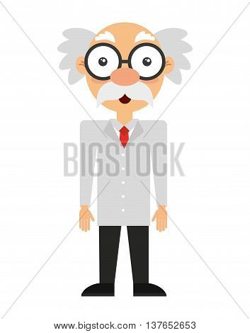 scientific character isolated icon design, vector illustration  graphic