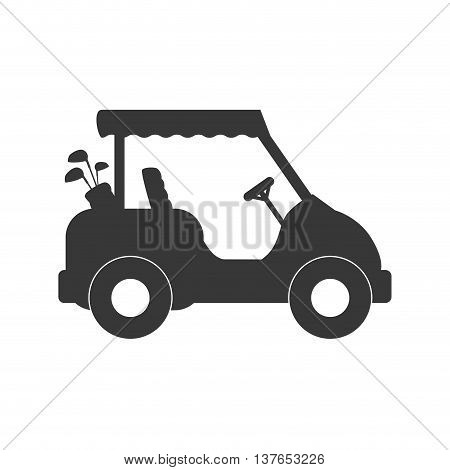 Sport concept represented by Golf cart icon. Isolated and flat illustration