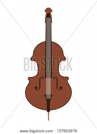 classic violin isolated icon design, vector illustration  graphic
