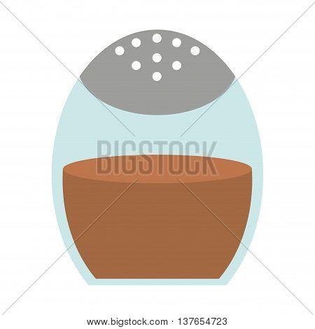 ground cinnamon isolated icon design, vector illustration  graphic