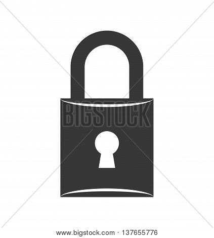 Security and protection concept represented by padlock icon. Isolated and flat illustration