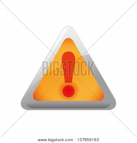 Security and protection concept represented by alert triangle icon. Isolated and flat illustration