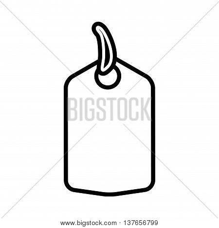 Label concept represented by tag icon. Isolated and flat illustration