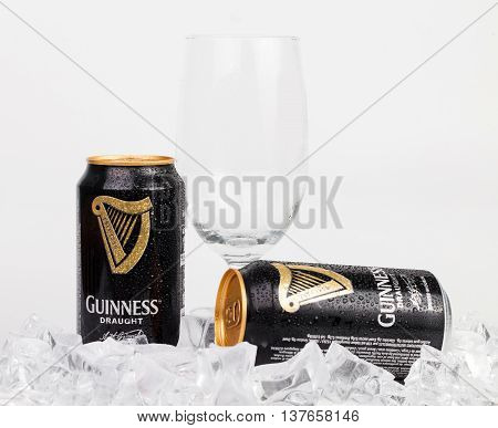 Guinness Stout Aluminum Can On The White Background