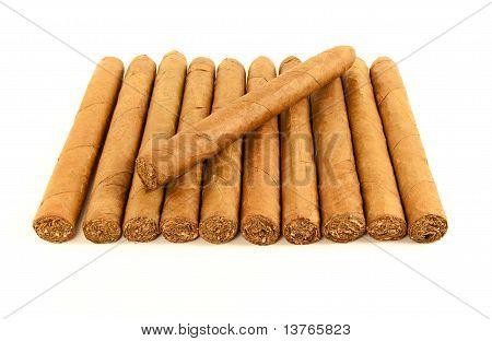 Stack Of Cuban Cigars