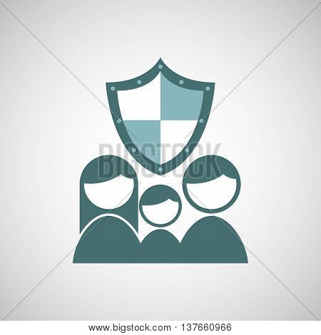 ensure protection insurance risk people isolated, vector illustration