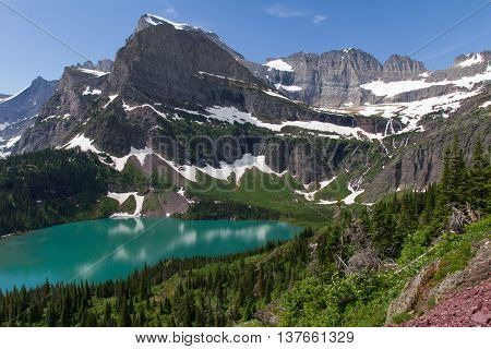 Grinnell Glacier and Grinnell Lake, Many Glaciers, Glacier National Park