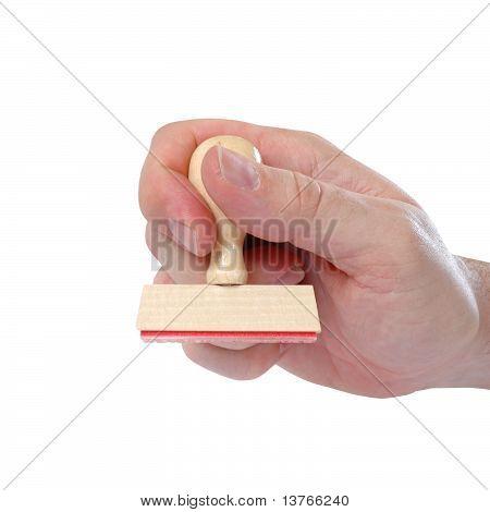 Man Hand Stamping