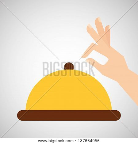 kitchen tools food Cookware cloche isolated, vector illustration