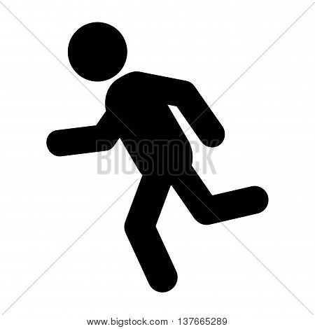 simple flat design running person pictogram icon vector illustration
