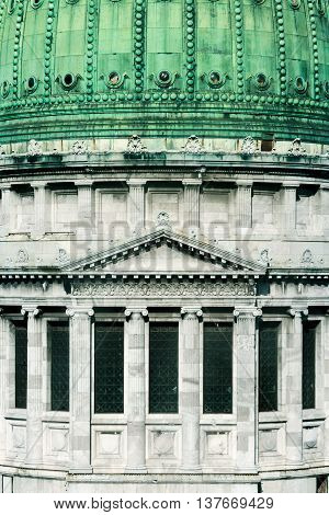 Dome of National Congress of Argentina with windows