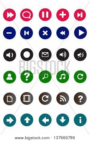 Multimedia icons interface icons symbol computer icon