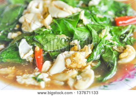 stir-fried melinjo vegetable and stir-fried or stir-fried vegetable dish