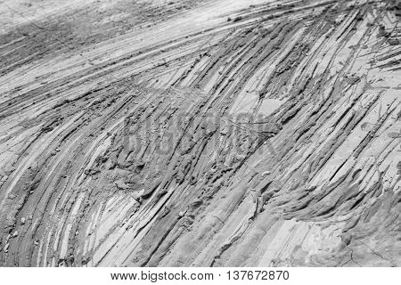 gray scratch on ground concrete construction building plaster working cement