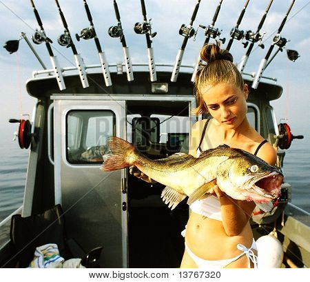 The Girl On Fishing.