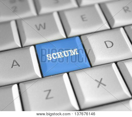 SCRUM computer key