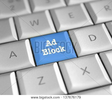 Ad block computer key