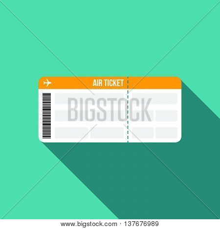air ticket, boarding pass icon, flat design
