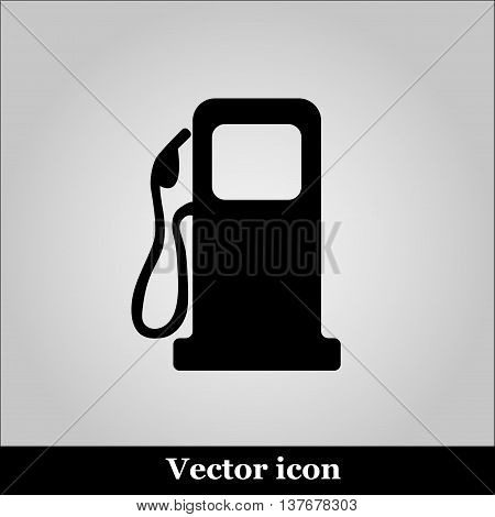 gas station on white background - vector icon