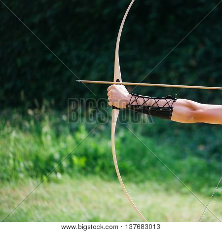 Archer Hands With Bow