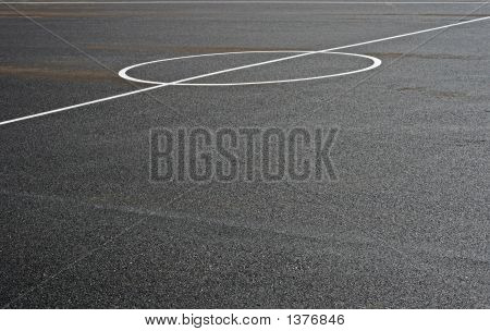 Abstract Shot Of A Football Field