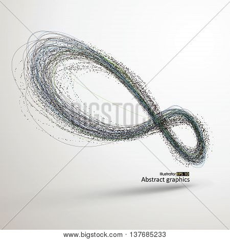 Abstract infinity Revolving lines concept graphic designv,ector Illustration